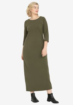 3/4 Sleeve Knit Maxi Dress by ellos®,