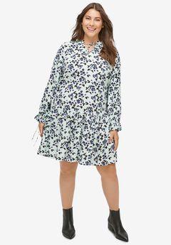 Drop-Waist Dress, SEAMIST FLORAL