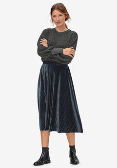 Velour Pleated Skirt by ellos®,