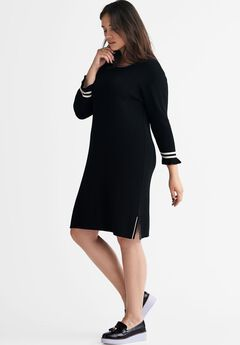 Tipped Sweater Dress by ellos®,