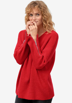 Zip-Sleeve Sweater by ellos®,