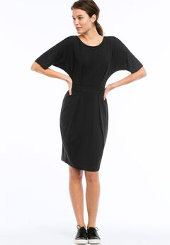 Knit Tie Waist Dress by ellos®,