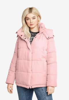 Short Hooded Puffer by ellos®, PALE BLUSH