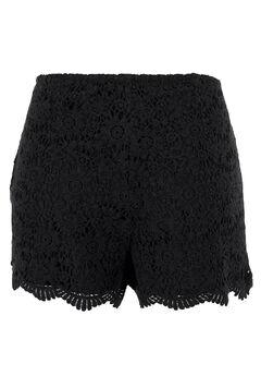 Crochet Lace Shorts by ellos®, BLACK