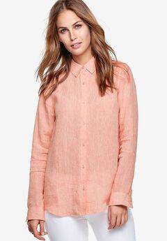Button Front Linen Blend Tunic by ellos®,