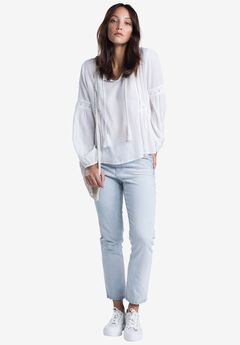 Cropped Slim Jeans by ellos®, BLEACH
