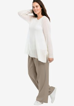 45766bc7cd61e Linen Blend Wide Leg Pants by ellos®