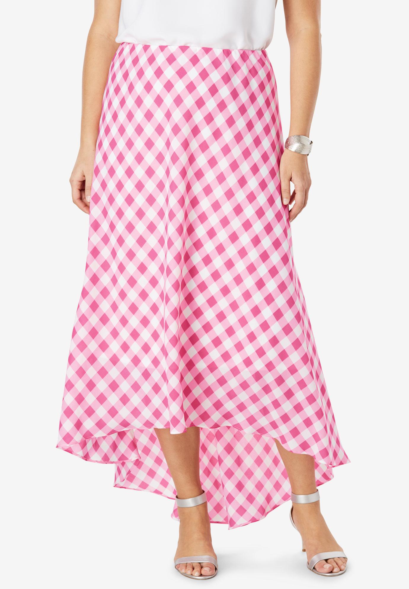 b5ee67967 Plus Size Plaid Maxi Skirt
