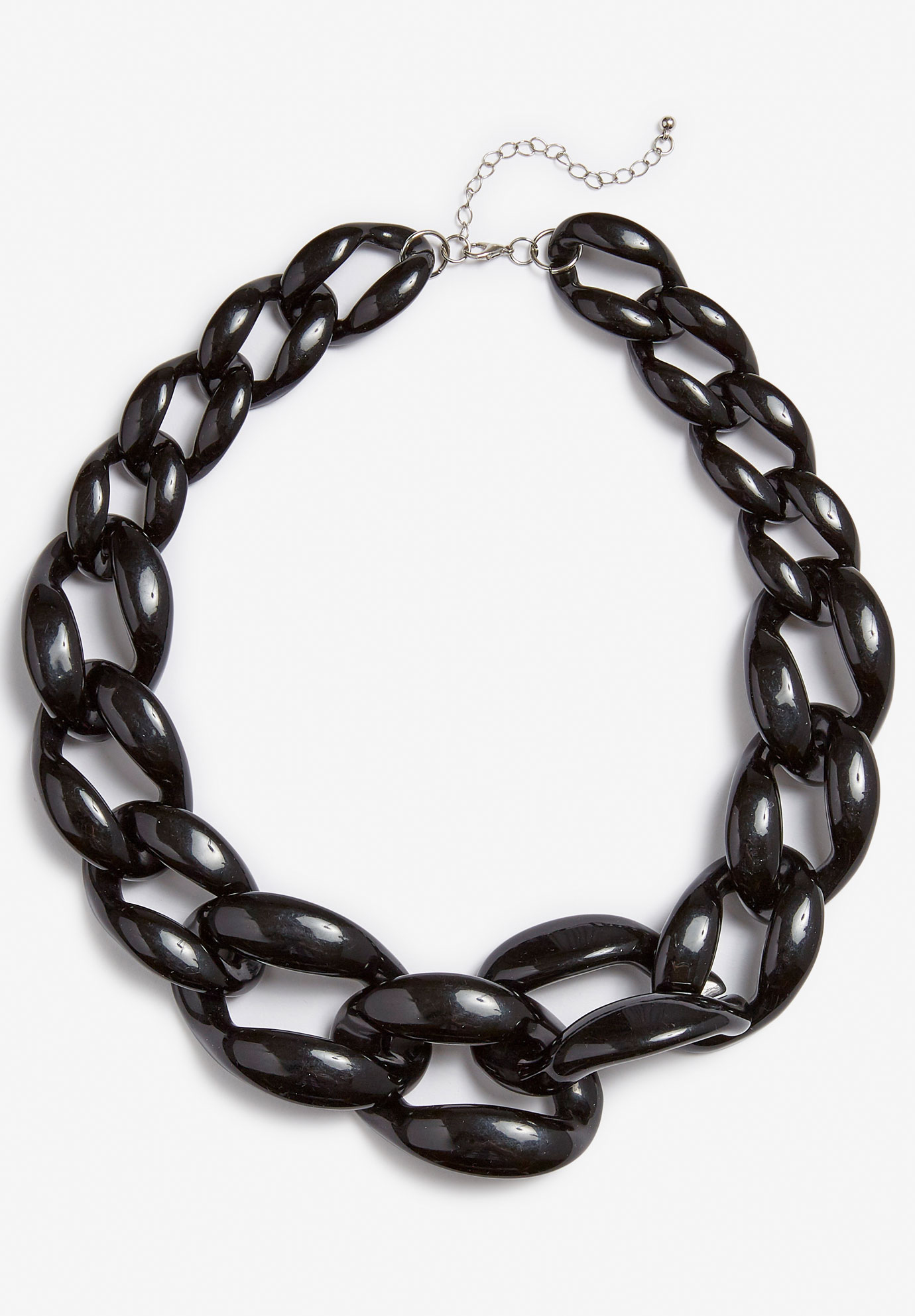 Chain Necklace, BLACK