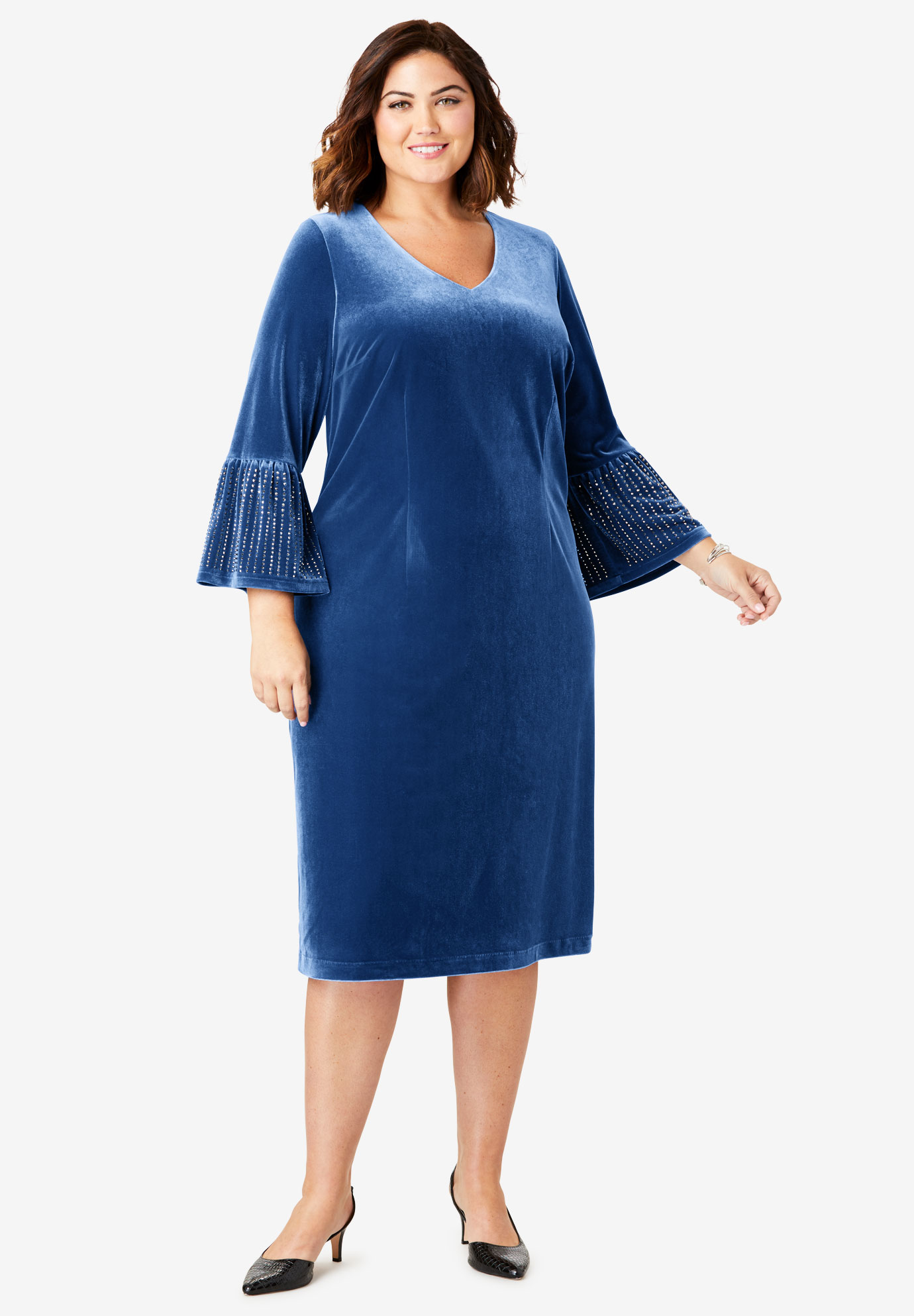 Bell Sleeve Dress,