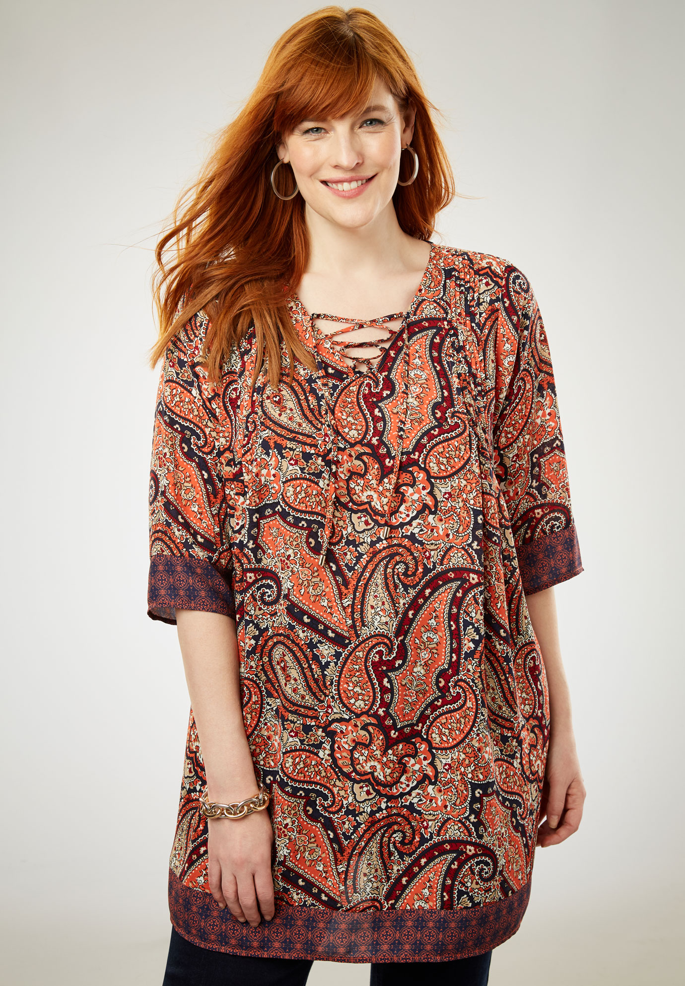 Lace Up Tunic,
