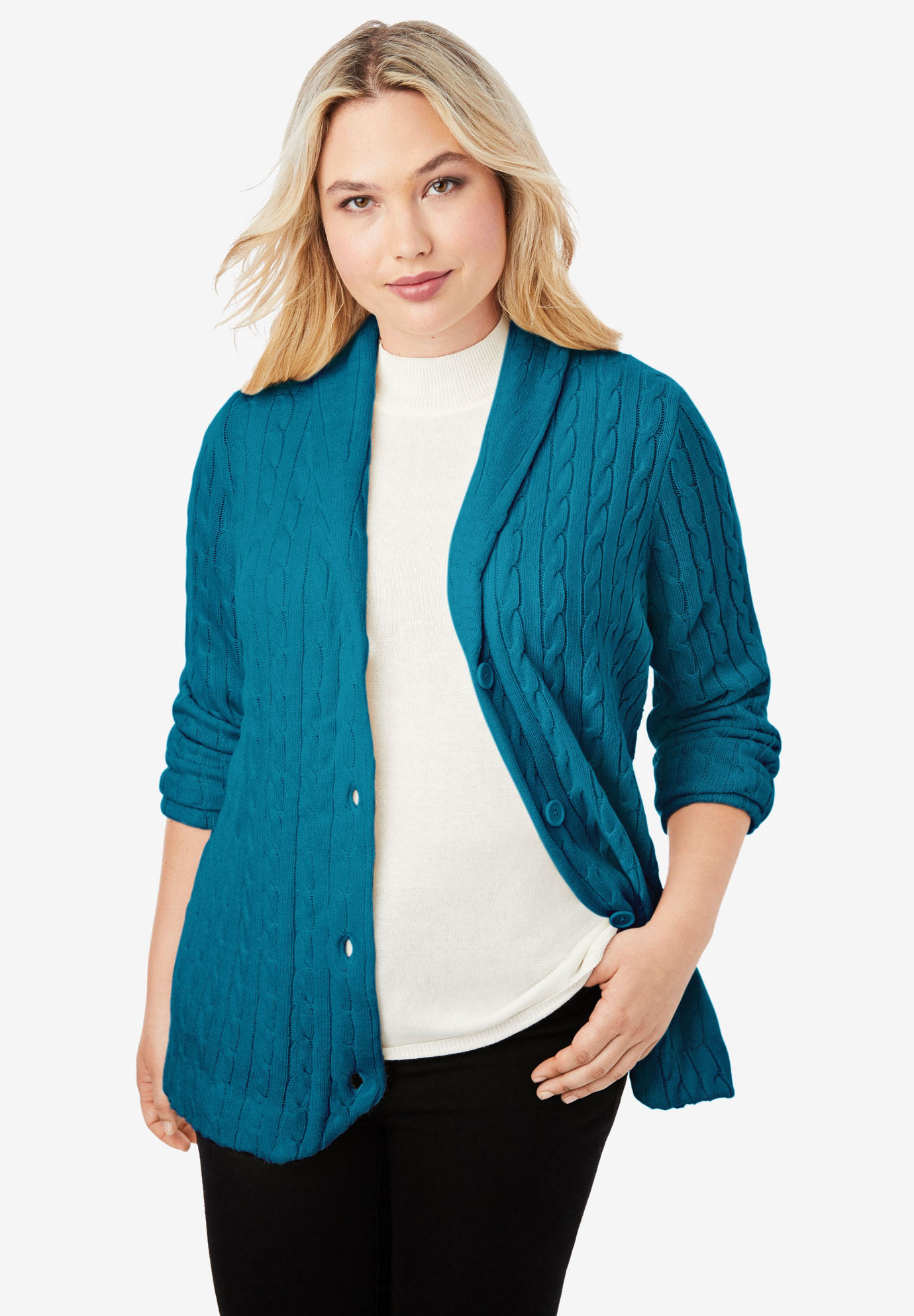 Cable Blazer Sweater,