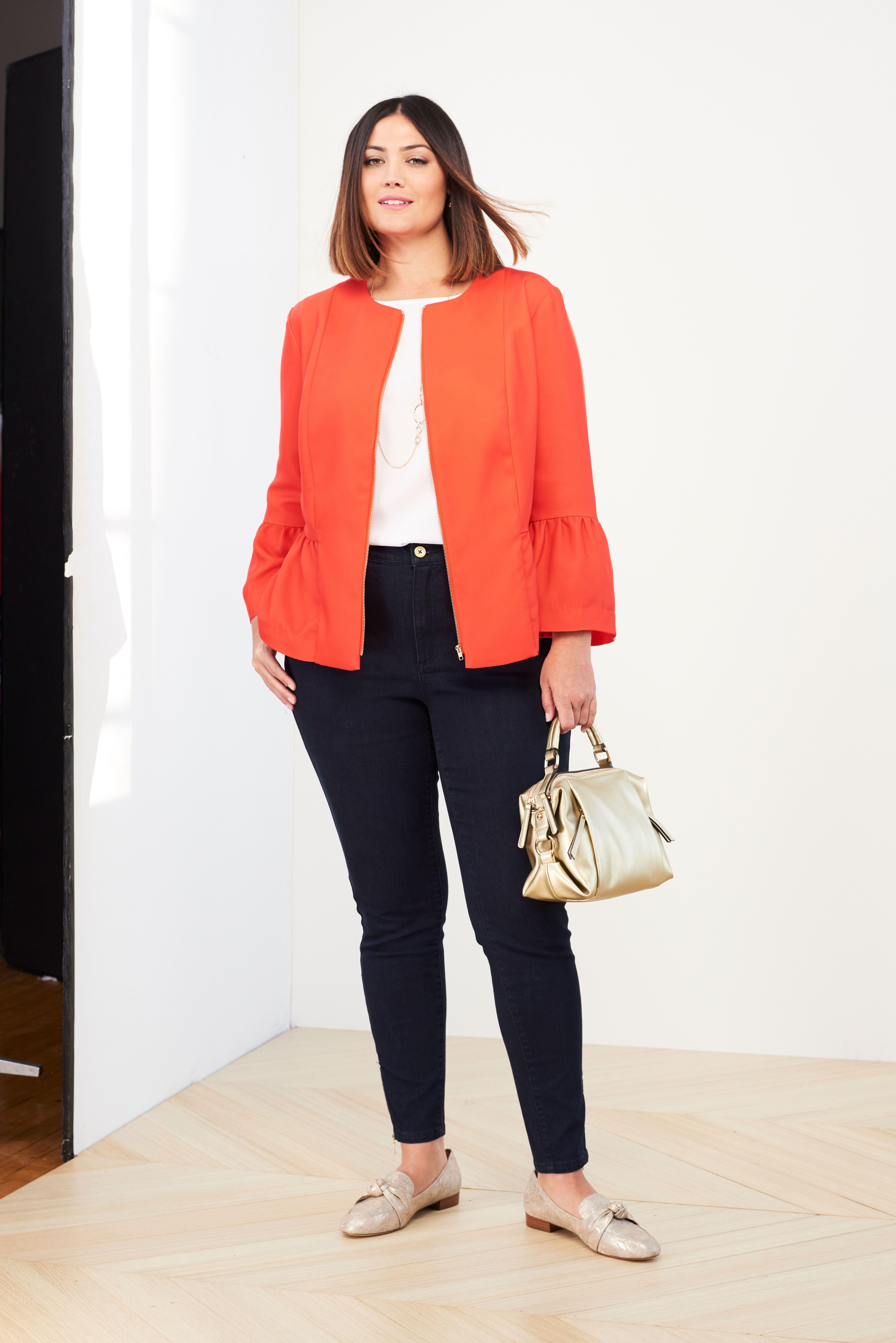peplum jacket plus size casual jackets jessica london