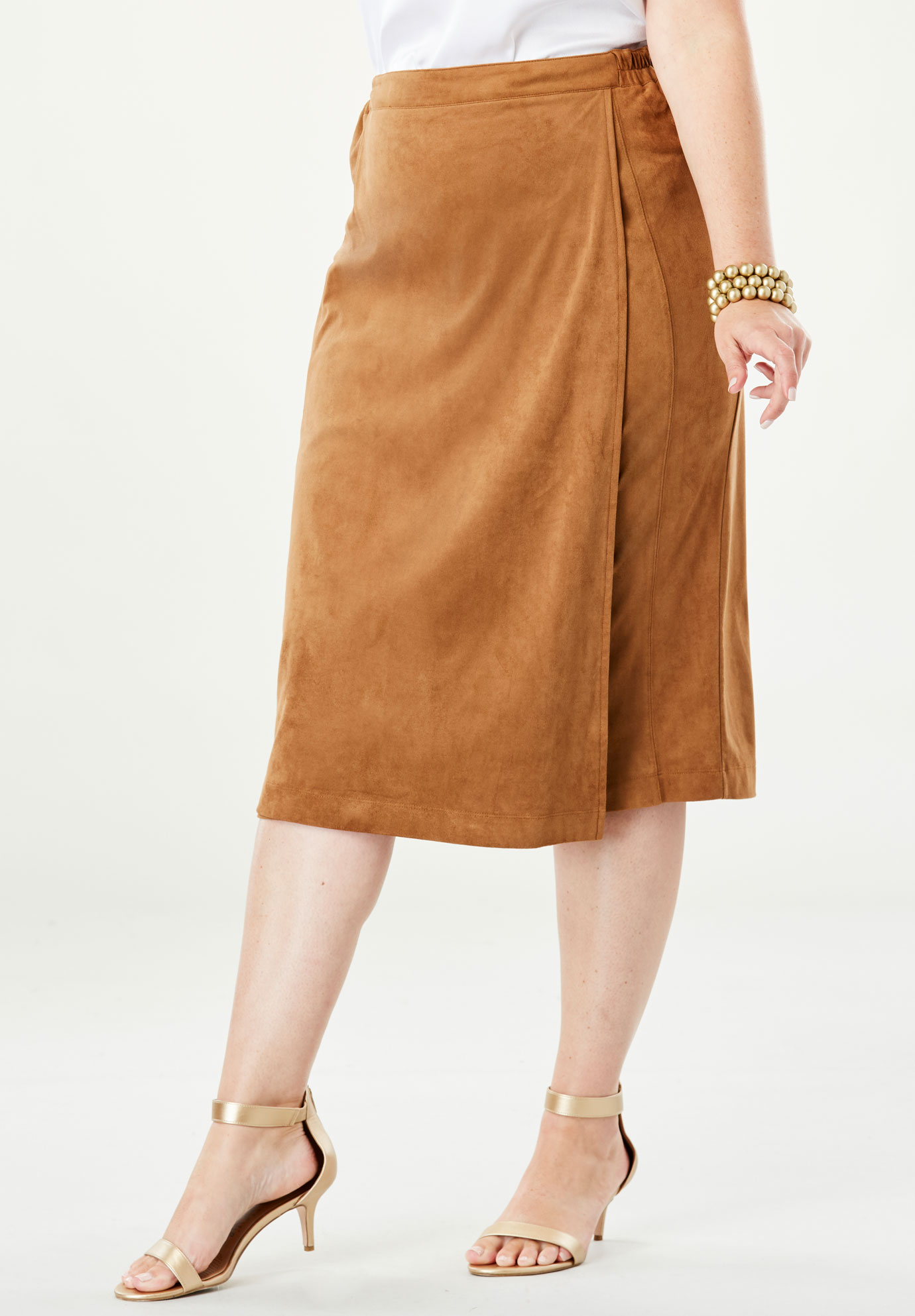 Faux Suede Skirt,