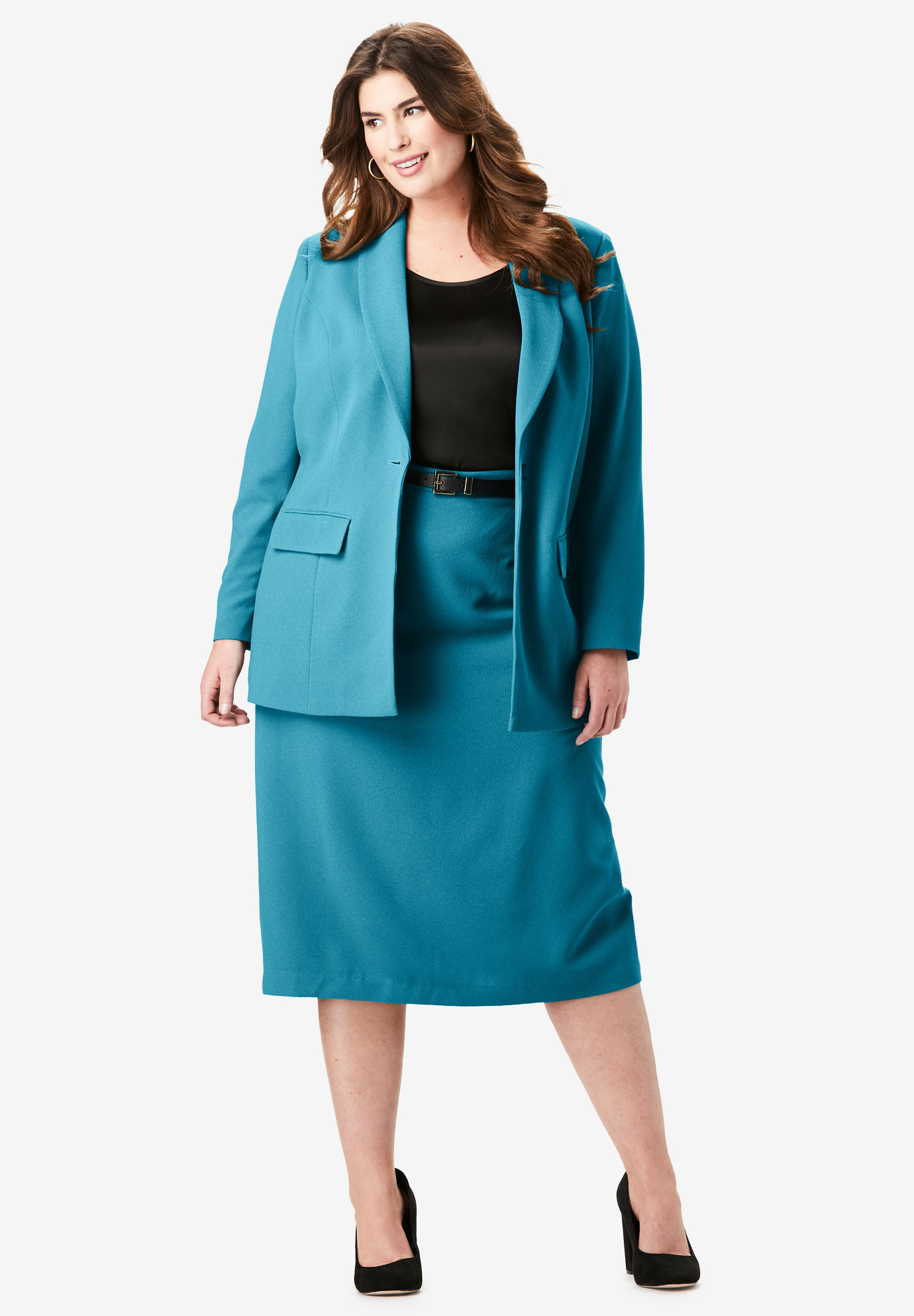 Single-Breasted Skirt Suit