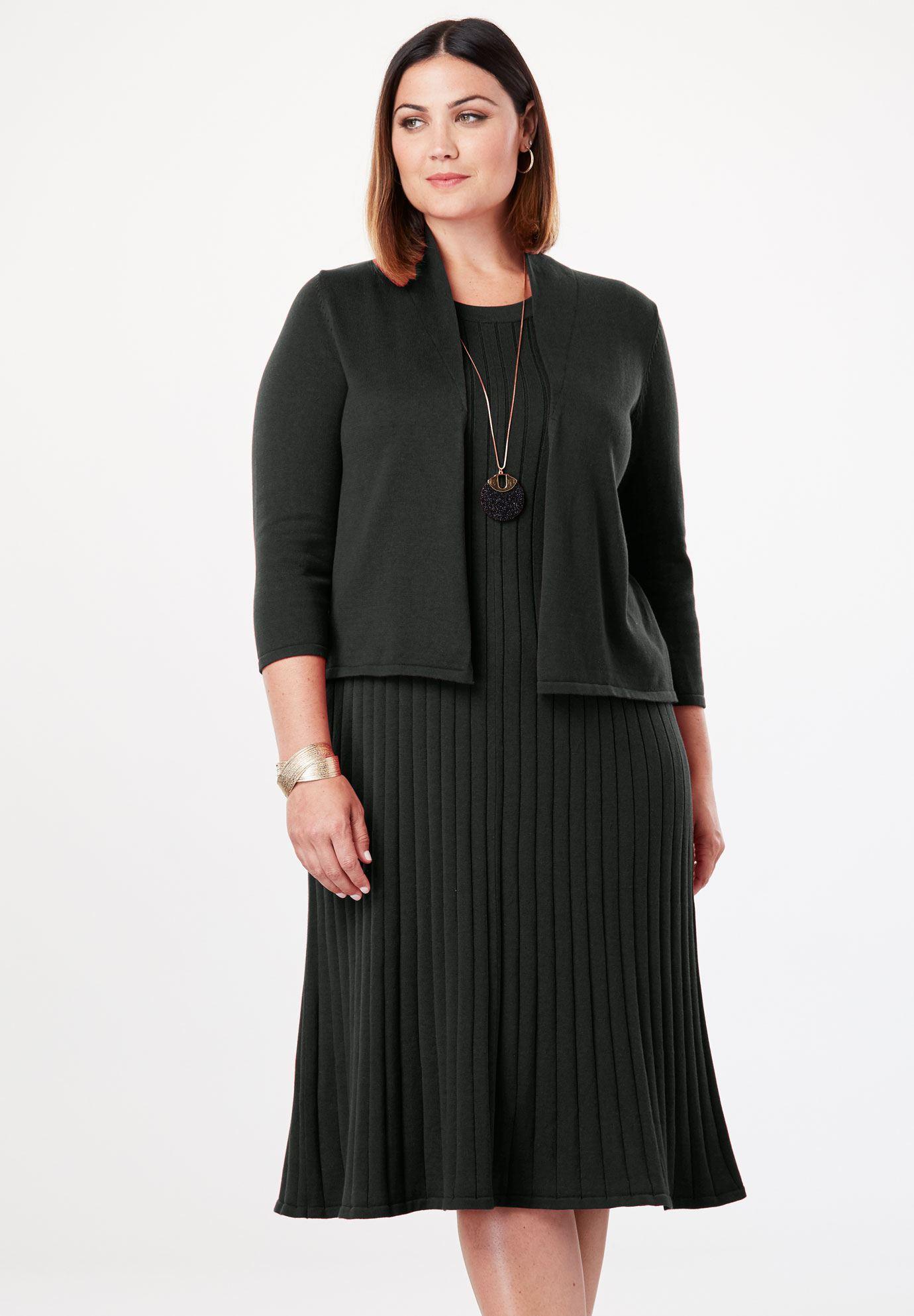 Sweater Jacket Dress | Plus Size Jacket Dresses | Jessica London