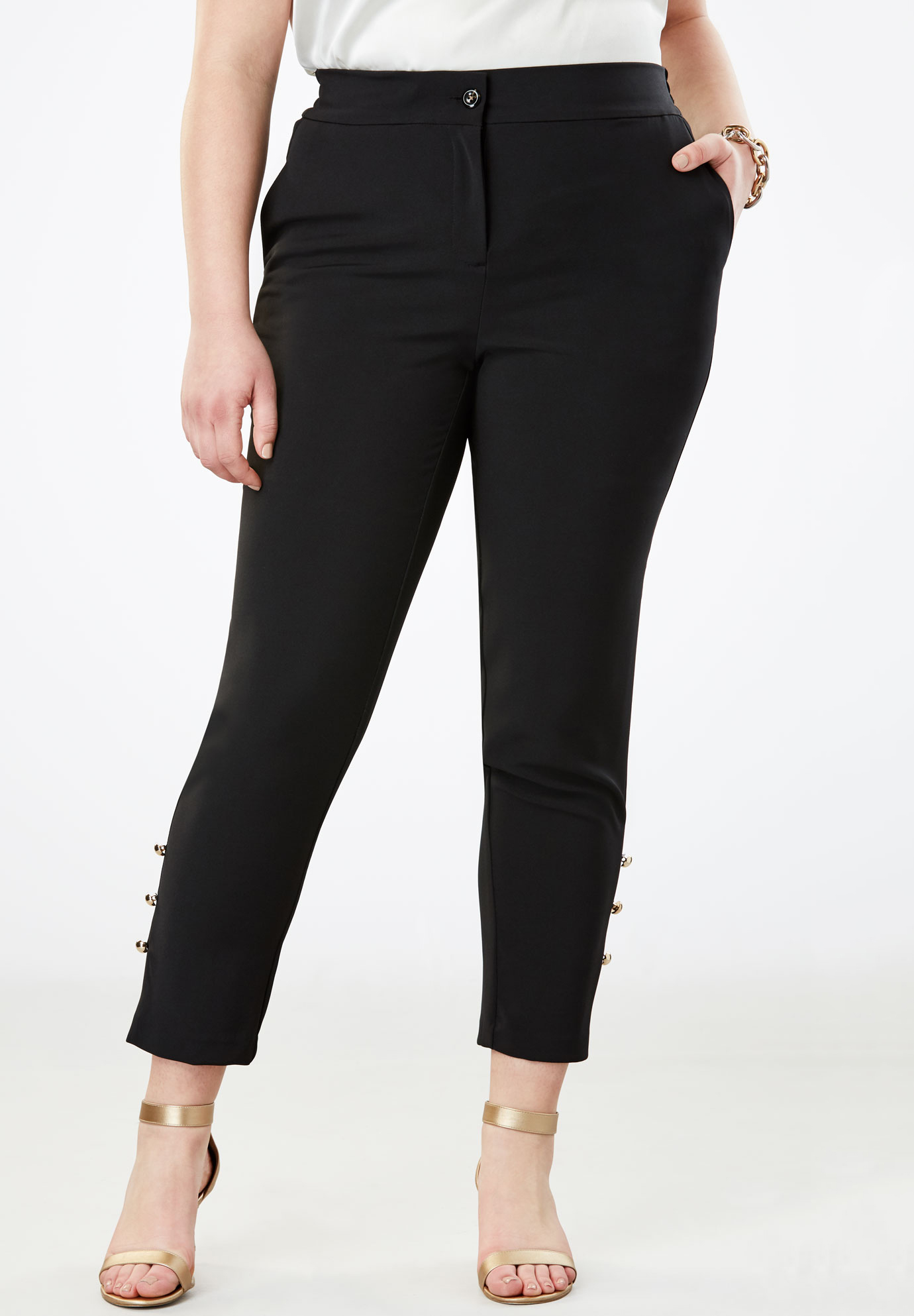 Tummy Control Bi-Stretch Ankle Pant,