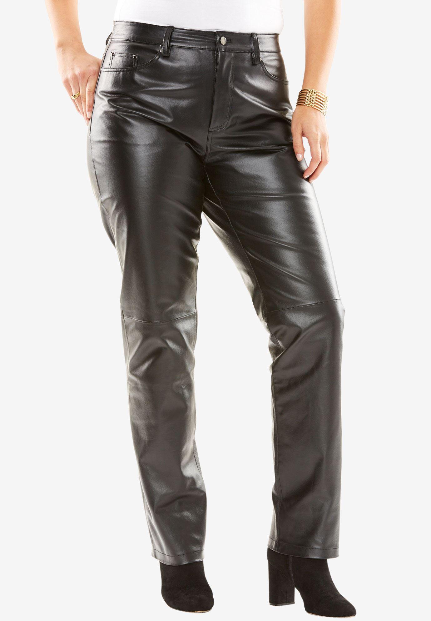 34e5a6ad875 Straight Leg Leather Pants