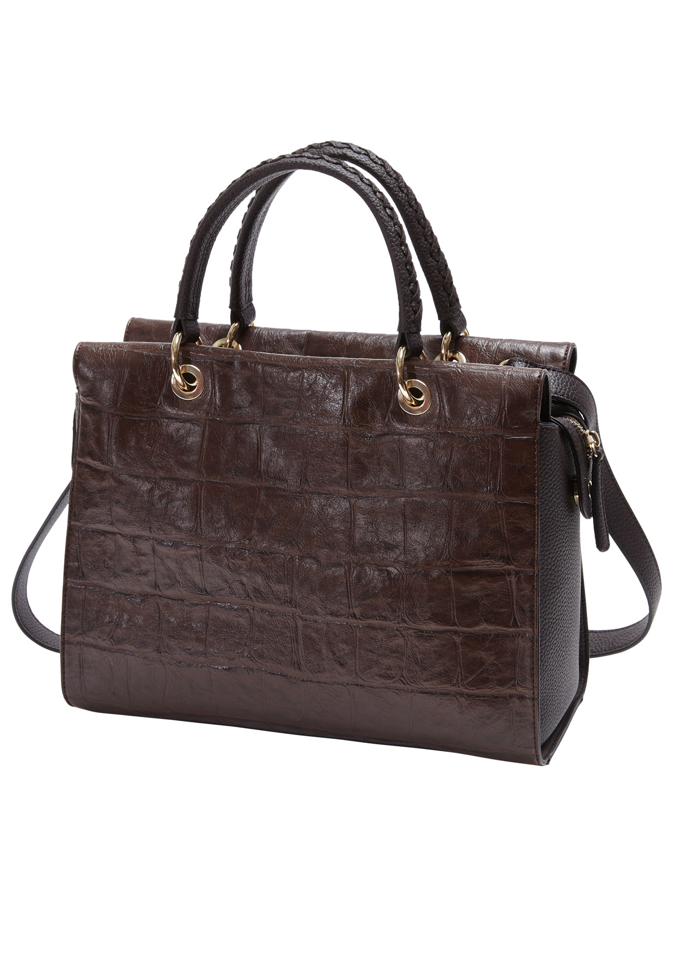 Croco Bag, BROWN
