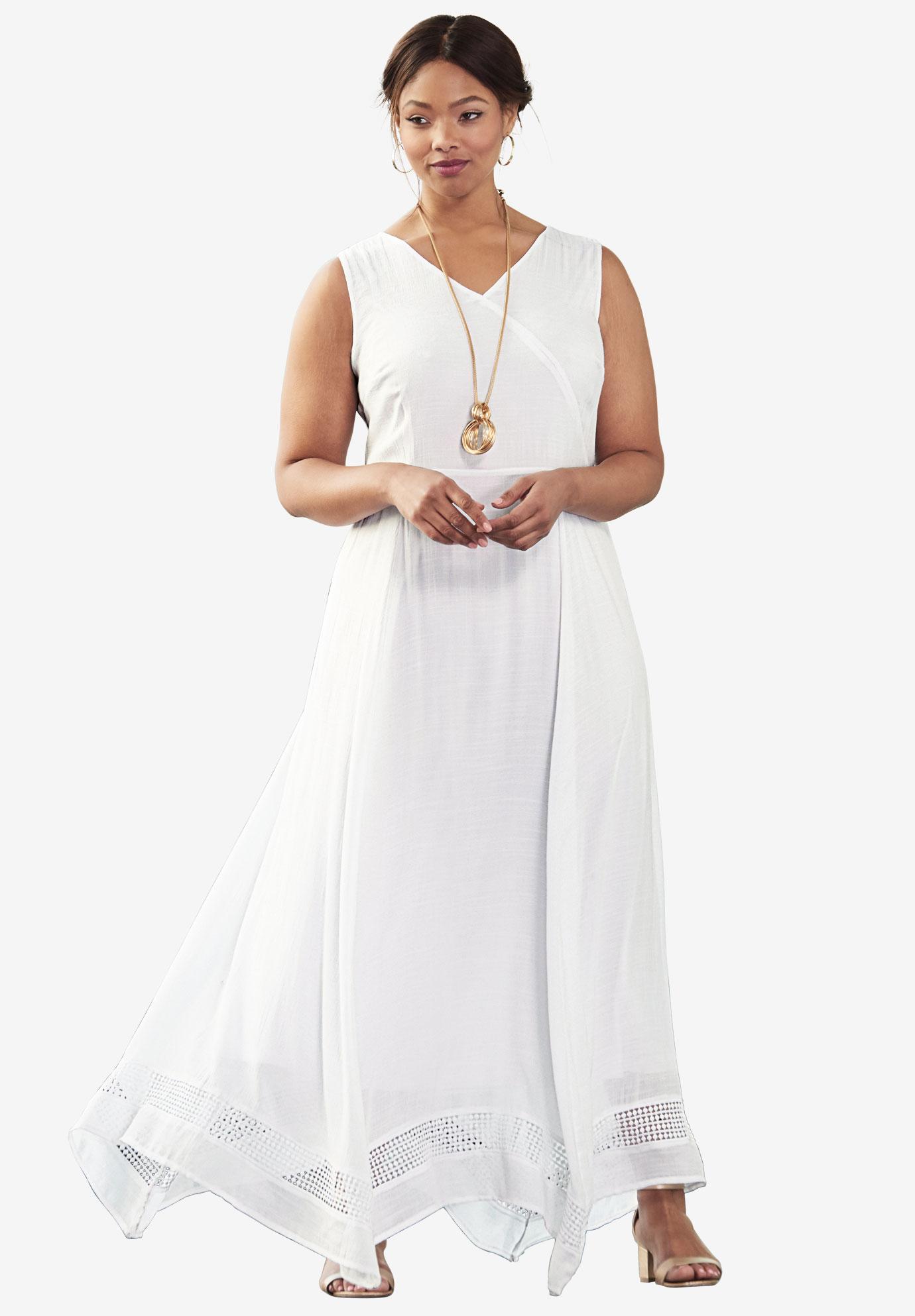 Handkerchief Hem Maxi Dress   Plus Size Dresses   Jessica London