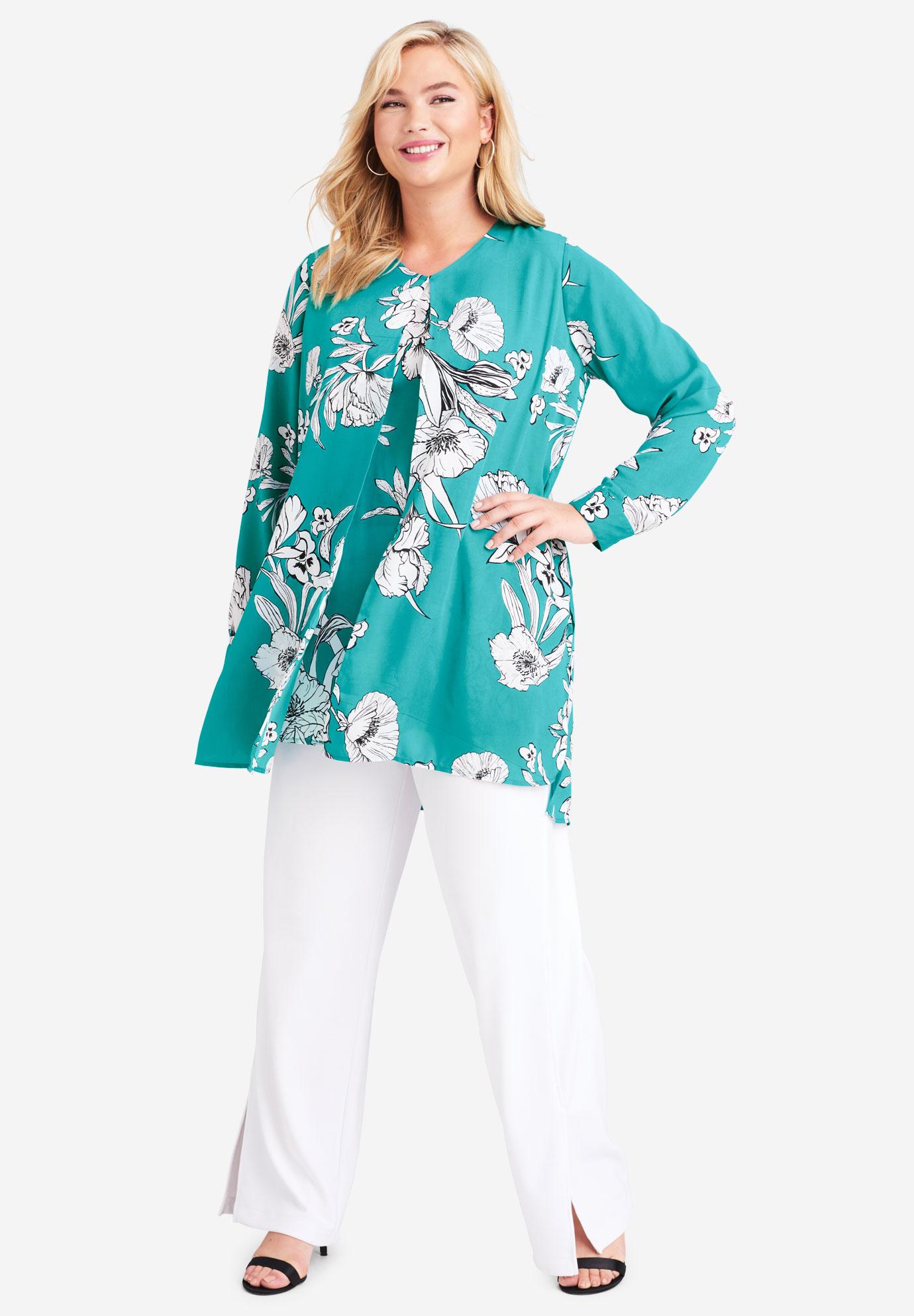 7a413cde1a0 Flyaway V-Neck Tunic  Plus Size Tunics   Jessica London