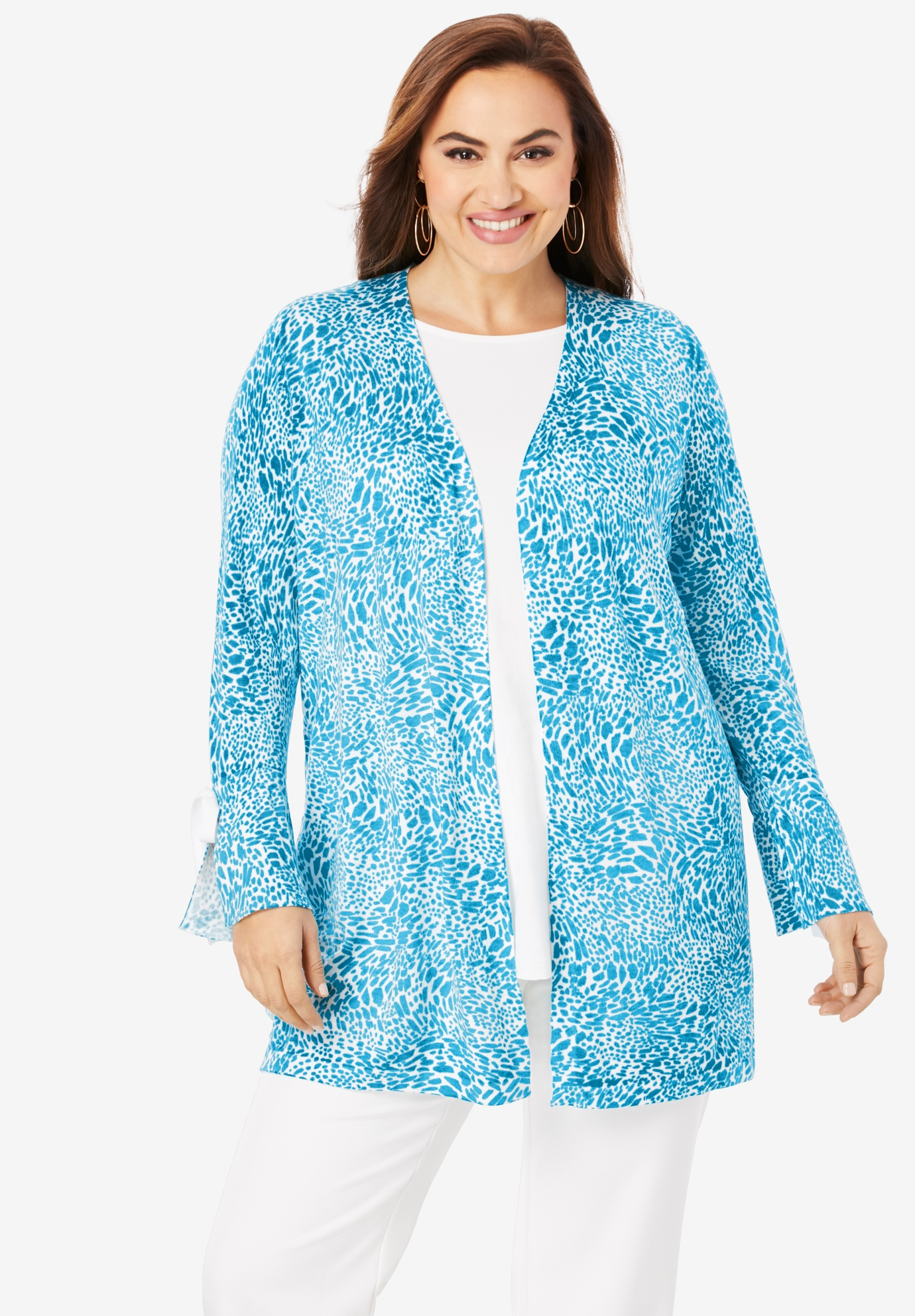 Bell Sleeve Cardigan Sweater,