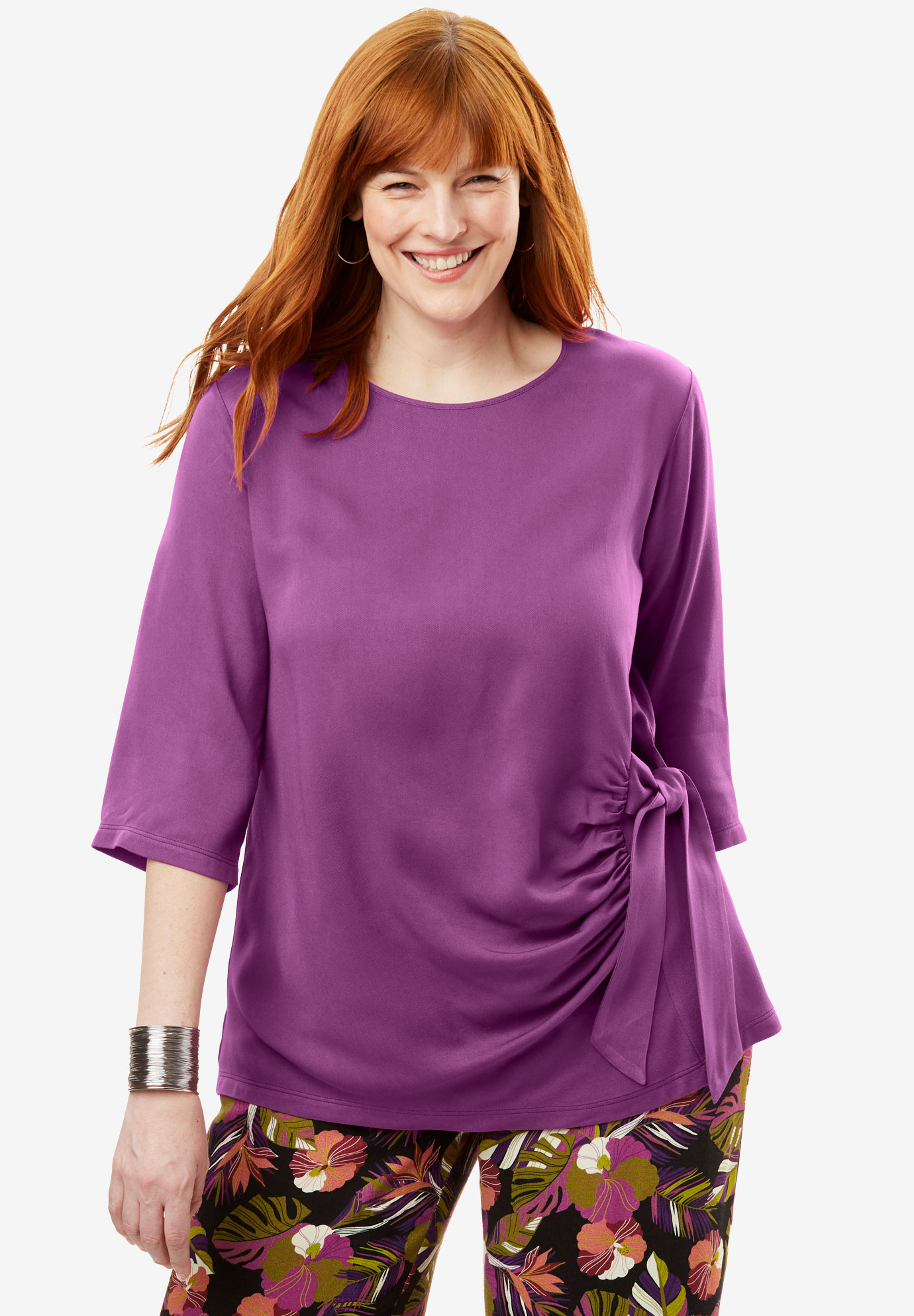 Side-Tie Blouse,