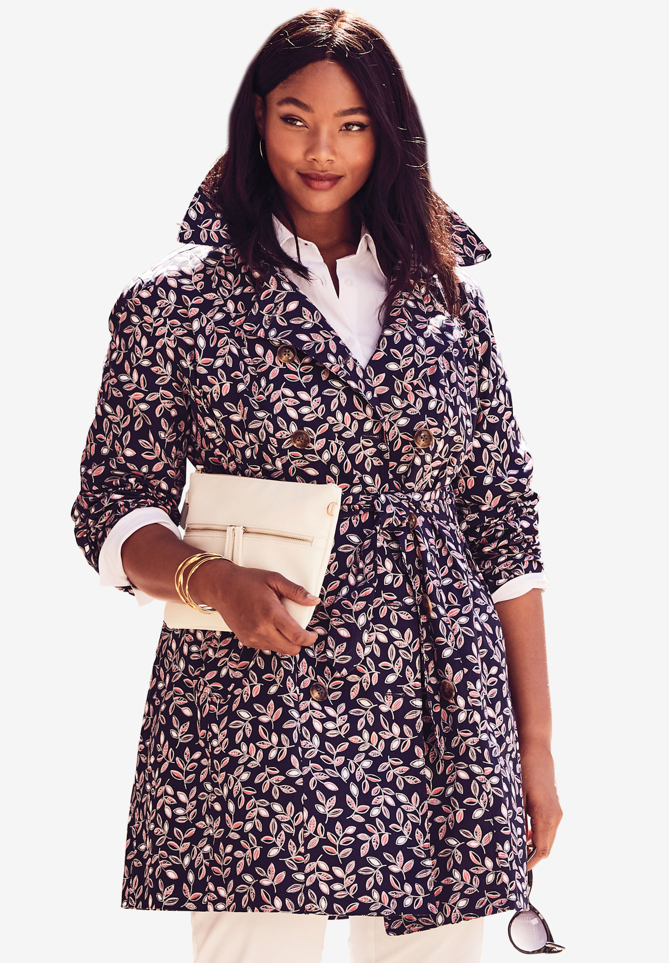 3207d58e1d1 Short Belted Trench Coat
