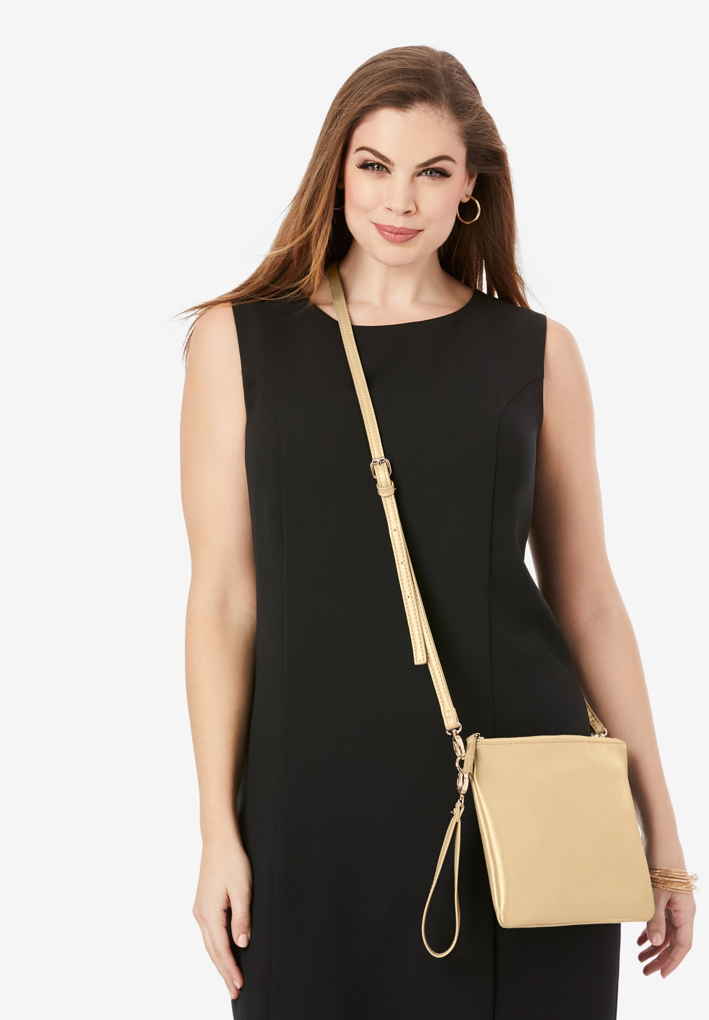 Convertible Crossbody Bag, GOLD