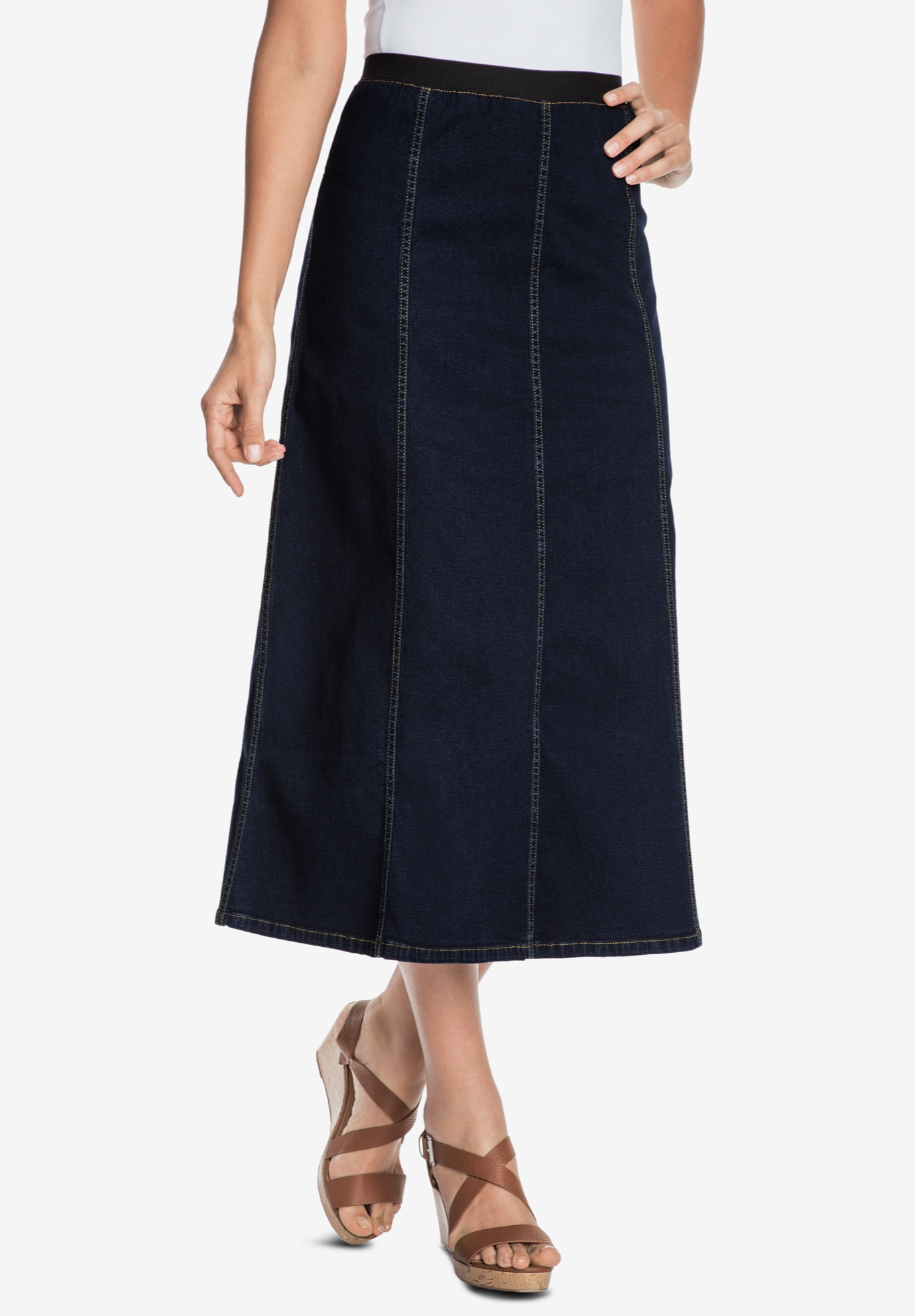 850ce0bd23 Plus Size Long Denim Pencil Skirt - Gomes Weine AG