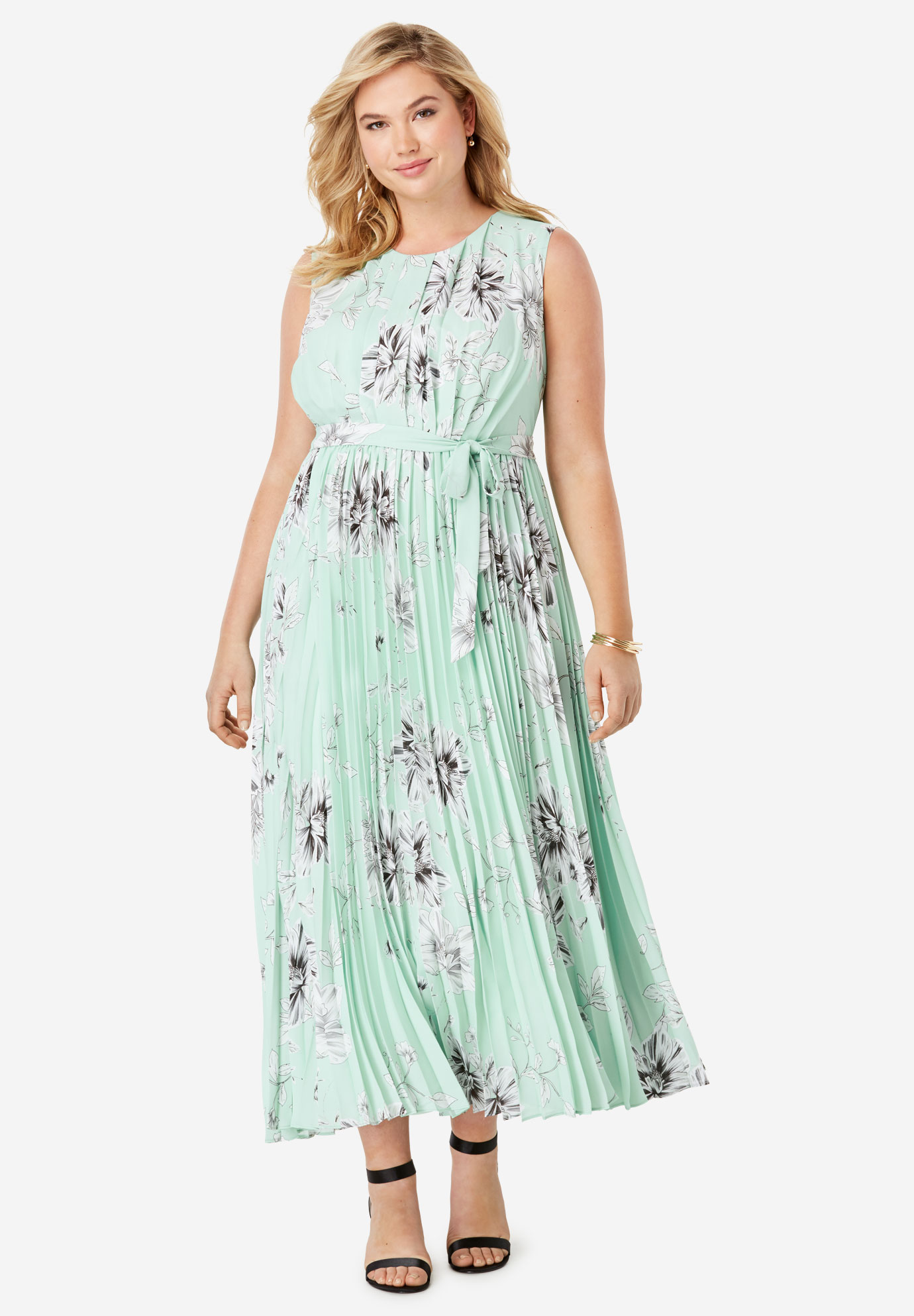 fa829e651bf Pleated Maxi Dress