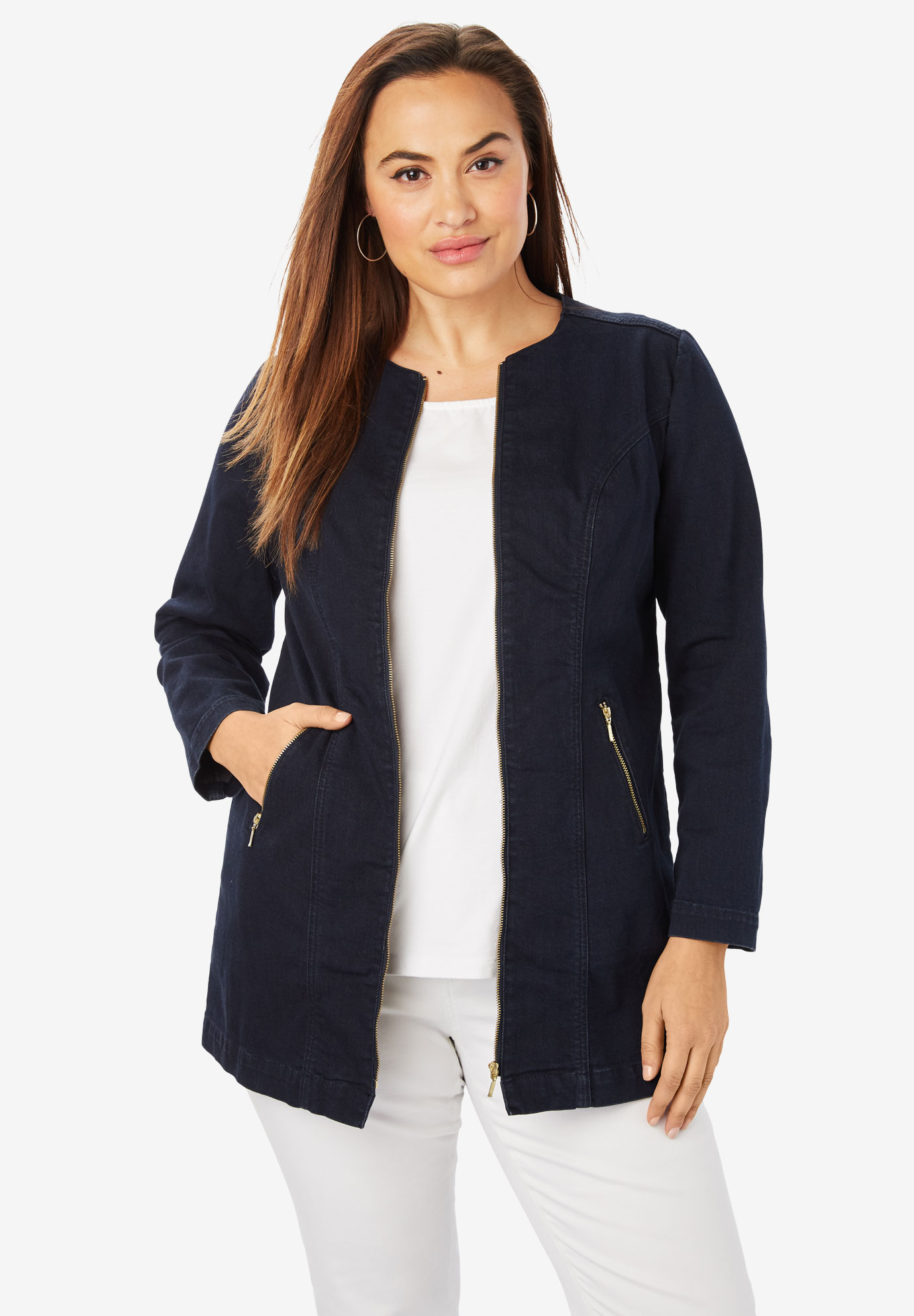 e95958161e14 Refined Denim Jacket| Plus Size Casual Jackets | Jessica London