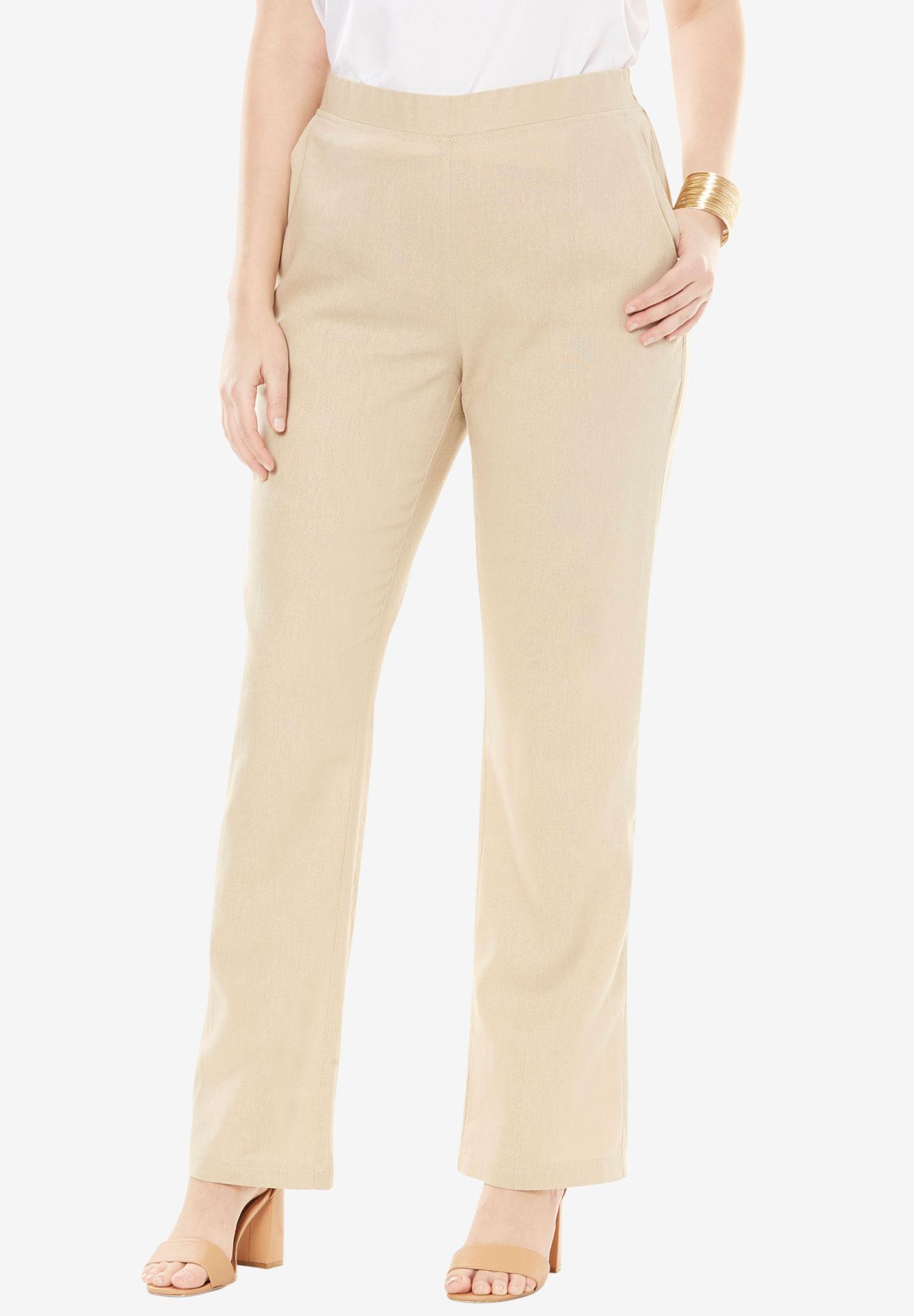 Pull On Linen Pants Plus Size Pants Skirts Jessica London
