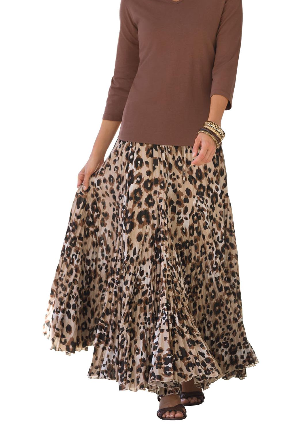Cotton Crinkled Maxi Skirt,