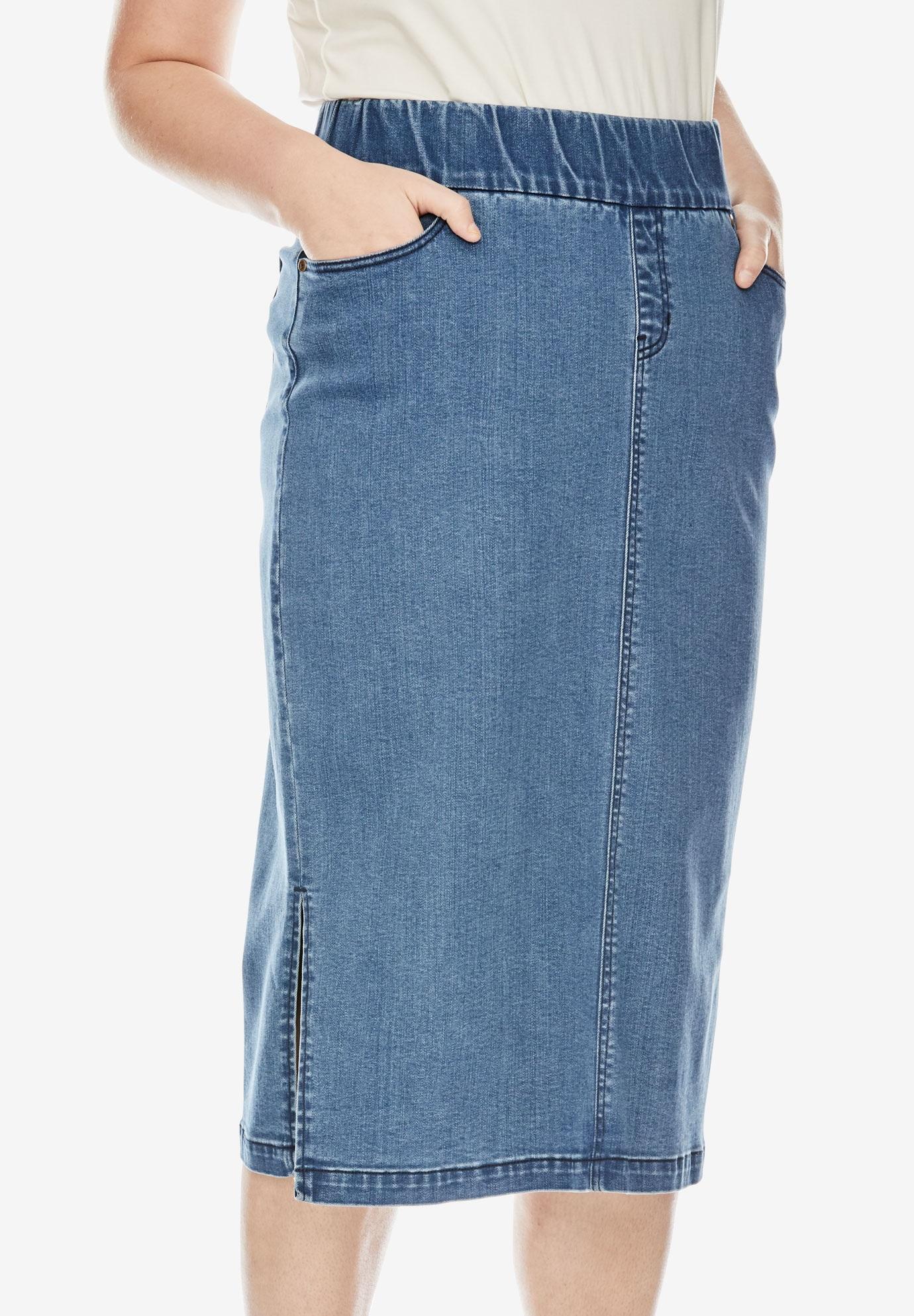 bd09a835c90 Comfort Waist Midi Skirt