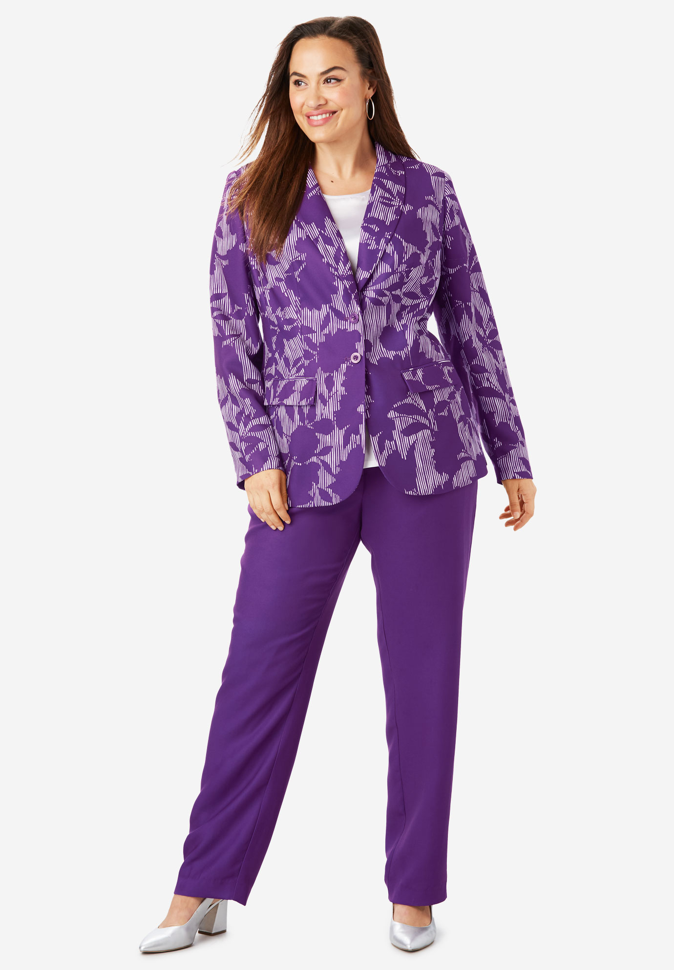 e9505356f20 Single Breasted Pant Suit