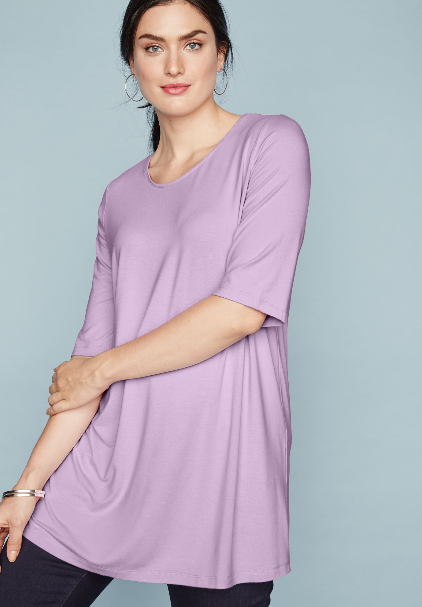 A-Line Tunic with Scoop Neckline,