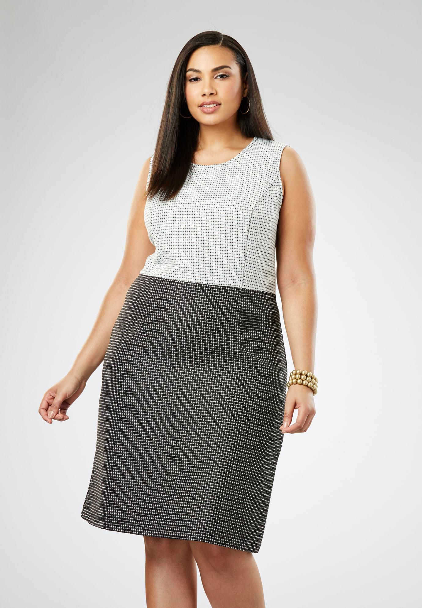 Ponte A-Line Dress| Plus Size Work Dresses | Jessica London