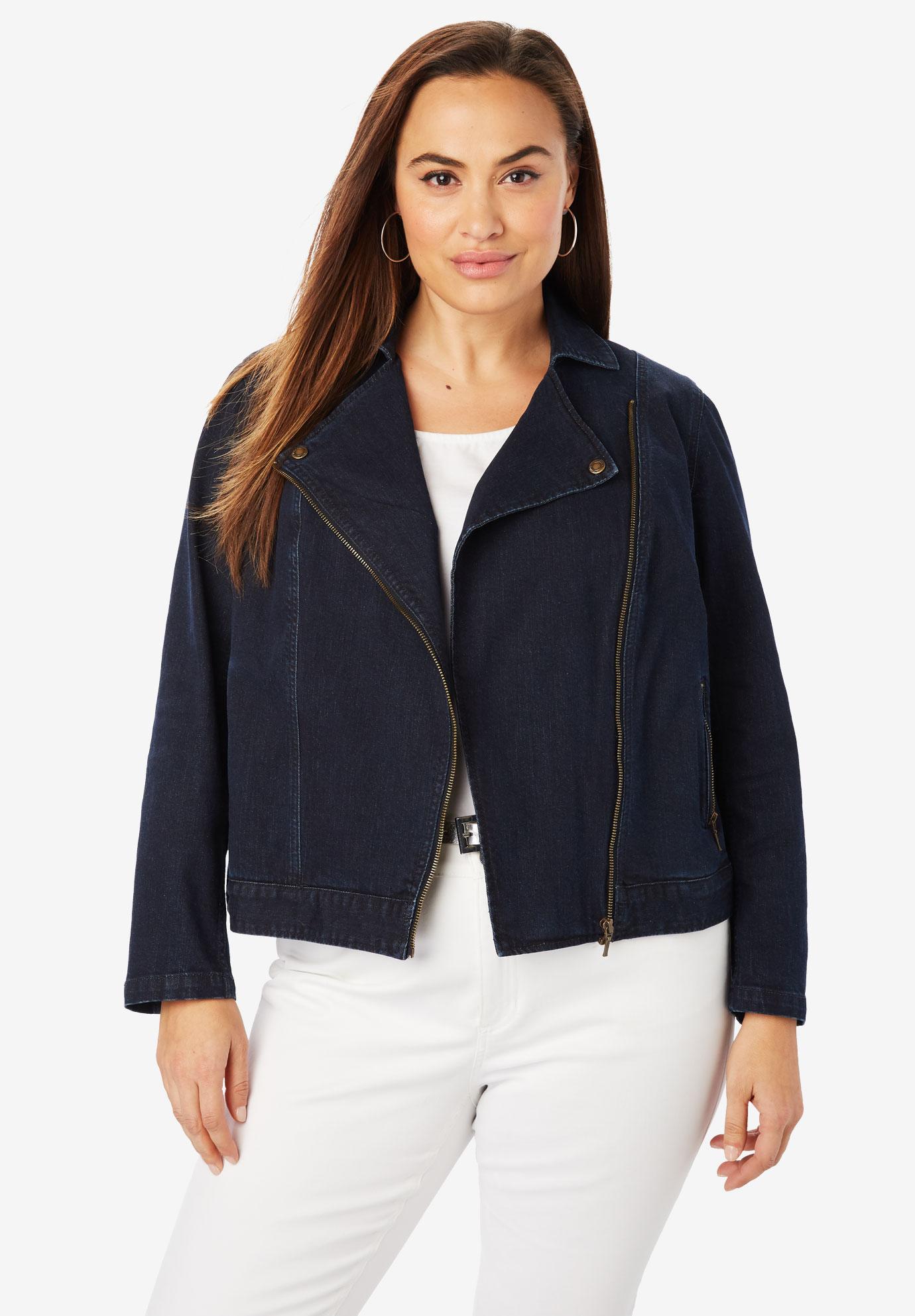 9642c1516305 Refined Denim Moto Jacket| Plus Size Casual Jackets | Jessica London