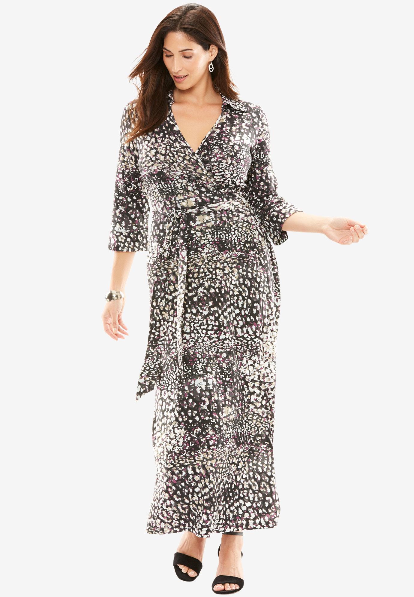 Wrap Style Maxi Dress| Plus Size Maxi Dresses | Jessica London