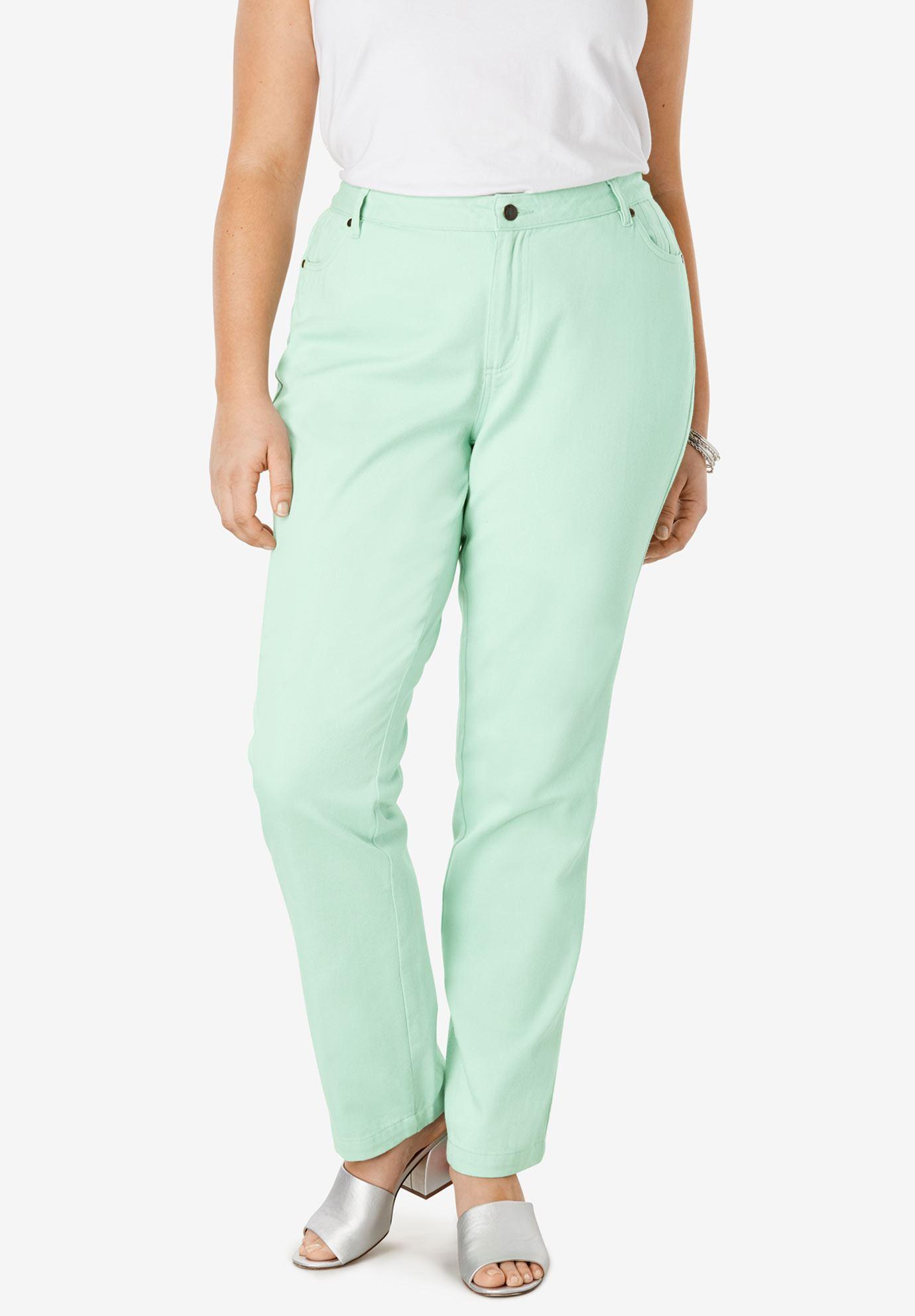4187f595c36 Classic Cotton Denim Straight Jeans