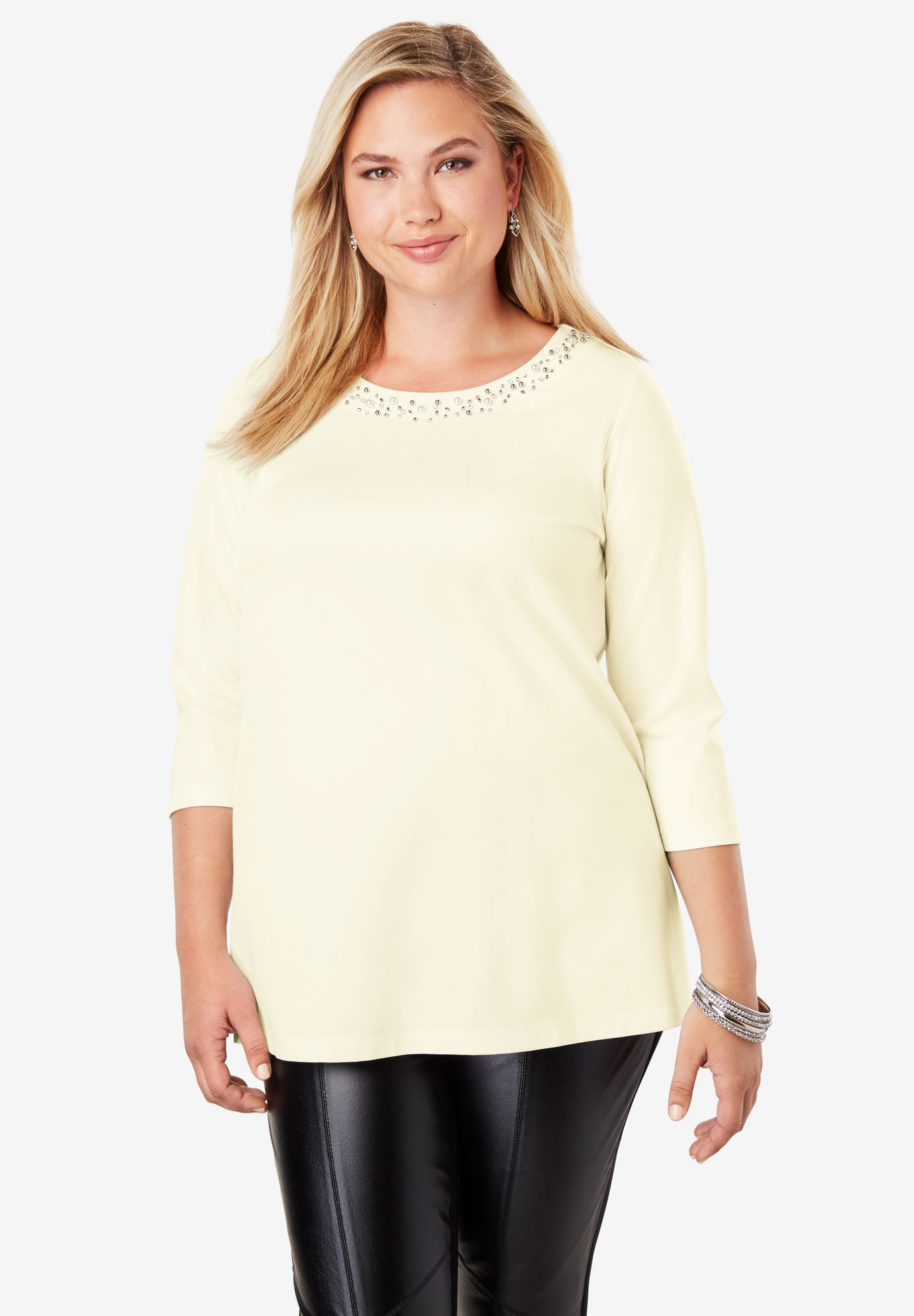 Jewel Ponte Tunic,