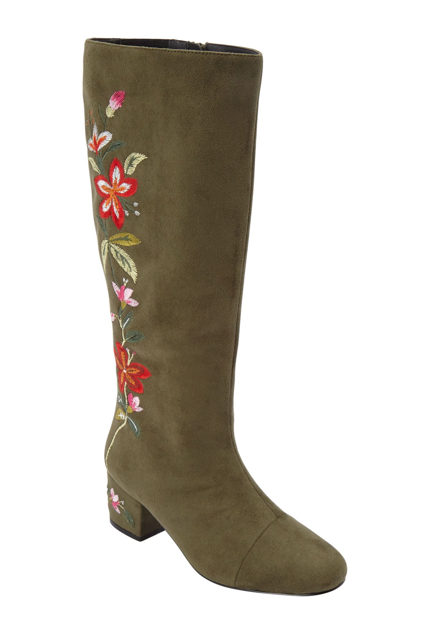 The Wilamina Wide Calf Boot by Comfortview®,