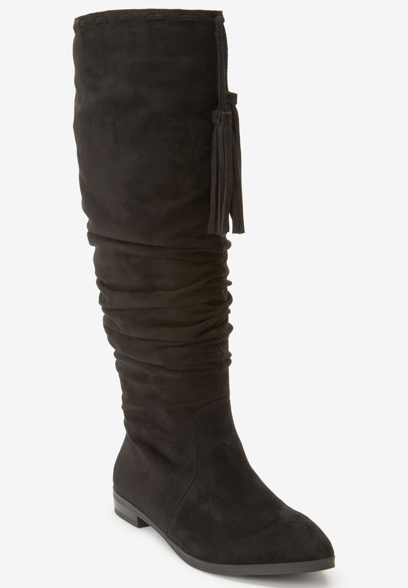 The Adelyn Wide Calf Boot by