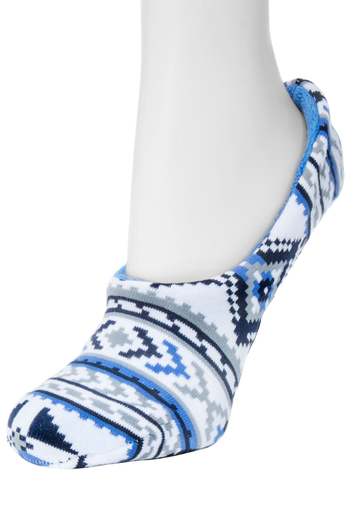Ballerina Slipper Socks by Muk Luks®, GREY BLUE