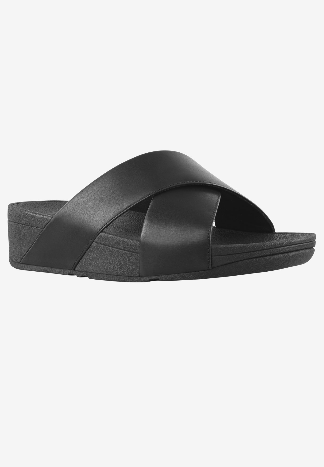 Lulu Cross Slide Leather Sandal by FitFlop,
