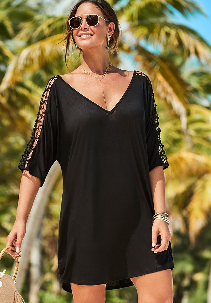 Kinsley Cut Out Cover Up Tunic,
