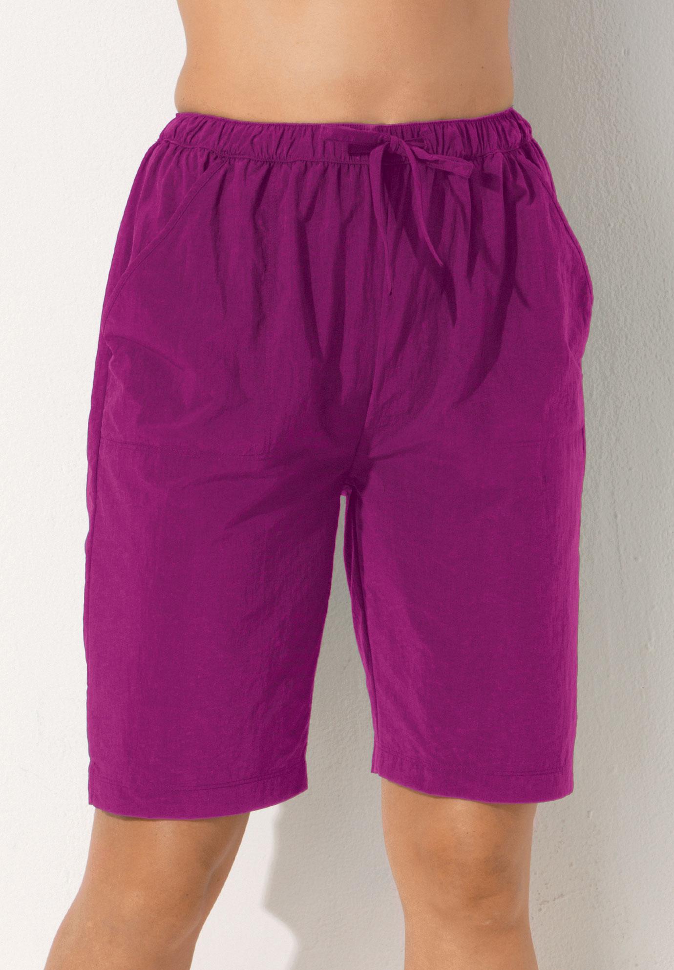 aefccbda4f Taslon® Swim Board Shorts with Built-In Brief| Plus Size Swimwear ...