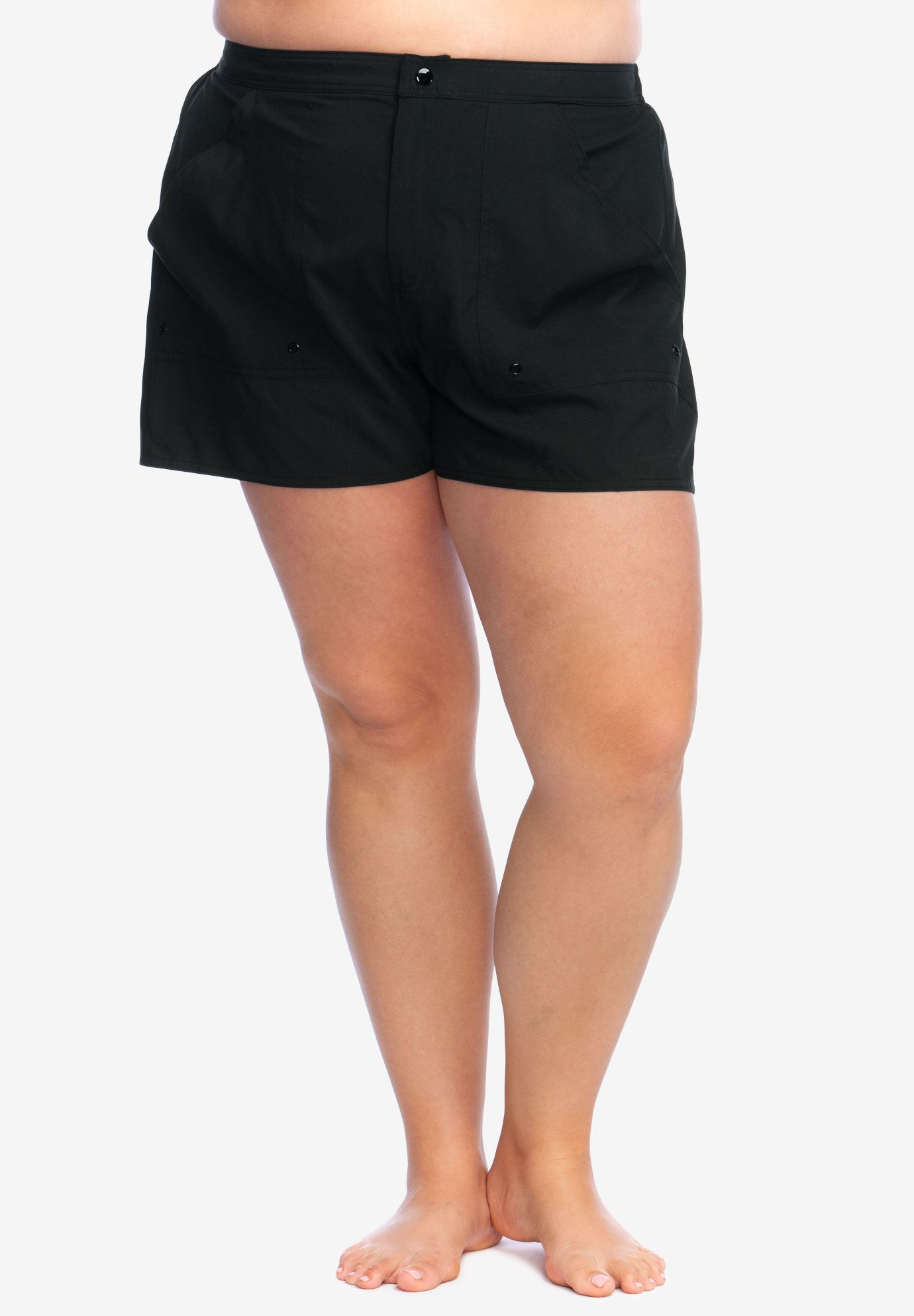 7bed7db49a Cargo Swim Short by Maxine of Hollywood| Plus Size Swim Bottoms ...
