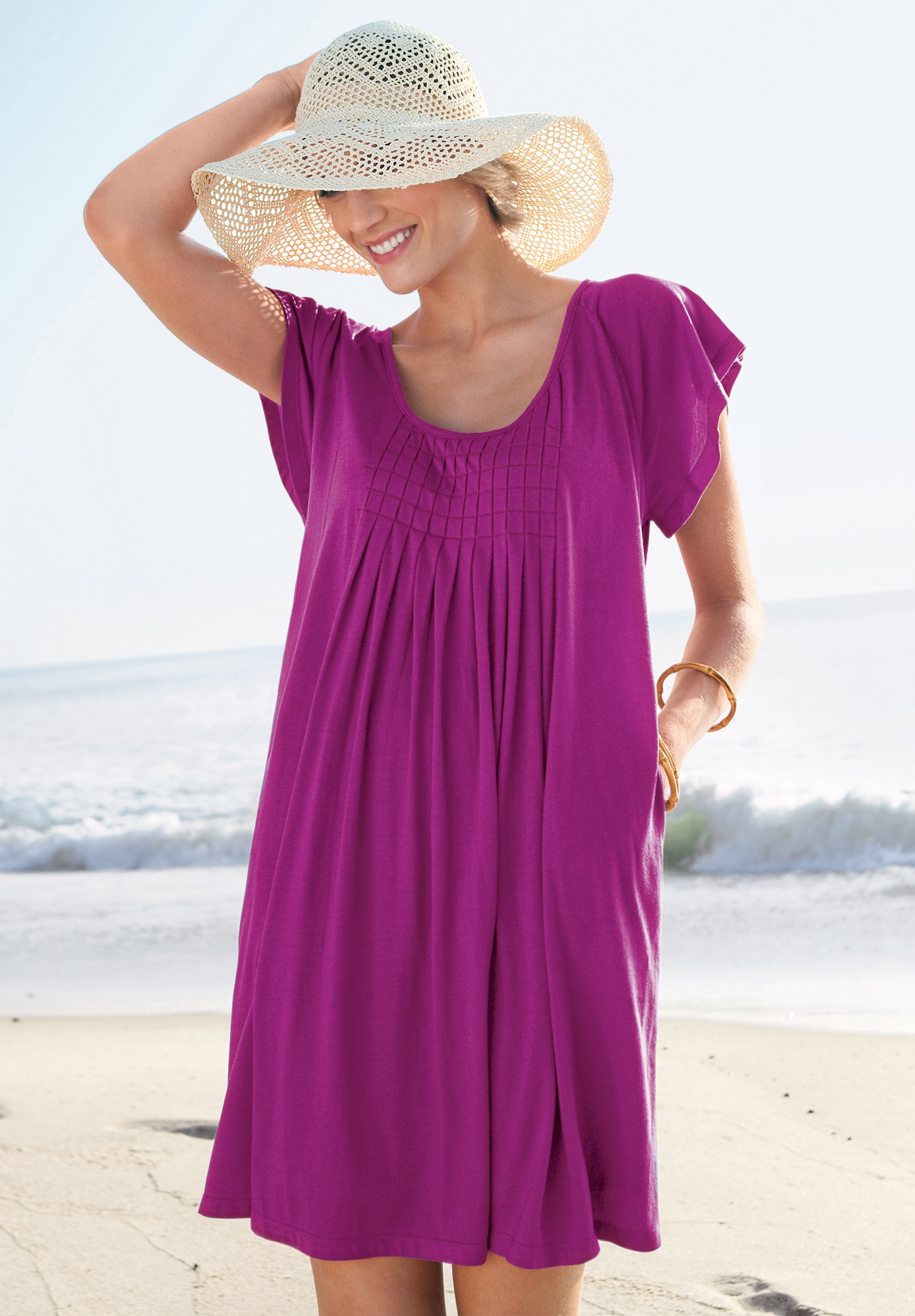 Box-Pleat Cover Up by Swim 365,